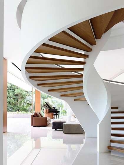 现代风格室内旋转楼梯图