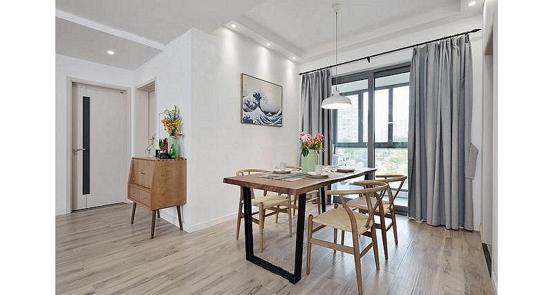 90平米欧式三居室装修效果图,北欧宜家风装修案例效果