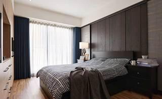 现代美式两居室卧室平面图