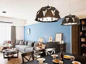 80㎡现代美式两居室图片  以木为居