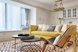 98平美式风格三居客厅茶几图片