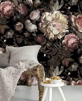室内彩绘背景墙装修装饰效果图