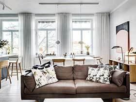 100㎡北欧风两居室设计图  中性的色彩