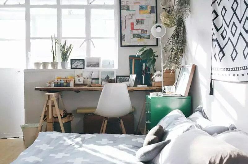 25平小户型一居工作台设计