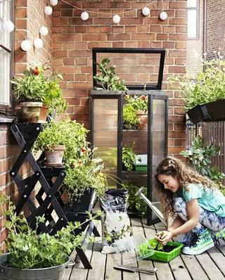 阳台装修绿植收纳设计图