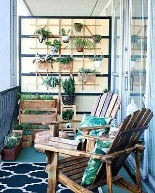 阳台置物架绿植摆放图片