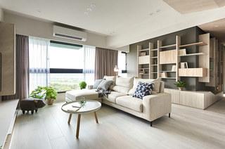 115平简约风格三居转角沙发设计