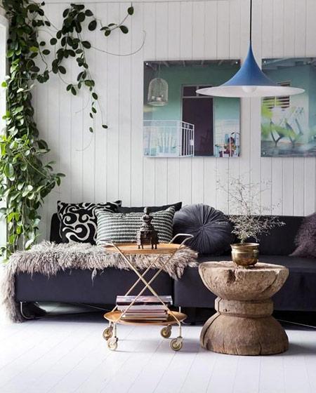 复古风格客厅茶几组合图