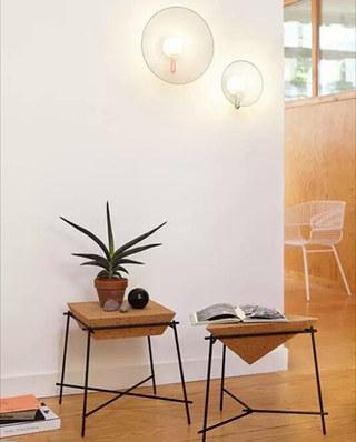 极简风阁客厅茶几设计图片