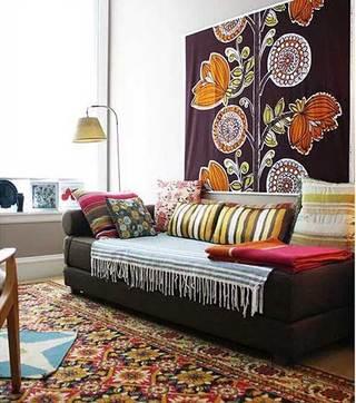 异域风沙发背景墙装修装饰效果图