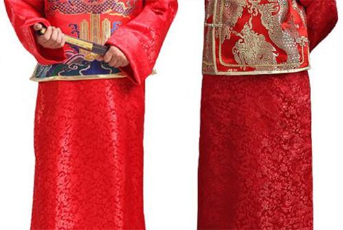 中式婚礼新郎礼服款式推荐 中式新郎新娘礼服如何搭配图片