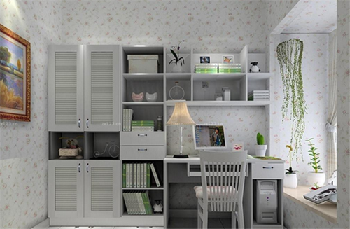 写字台带书架效果图 如何让房间更美观图片