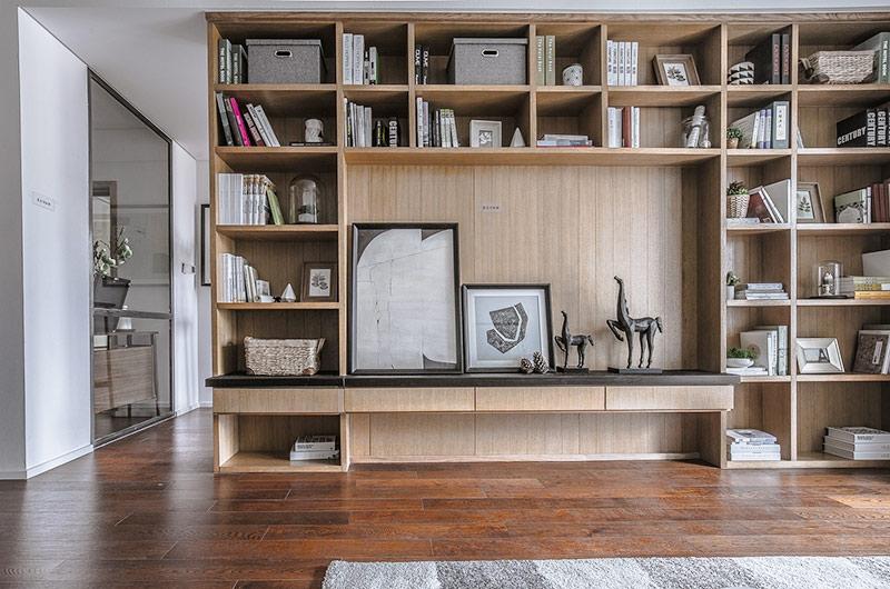120平简约风格样板房电视柜图片