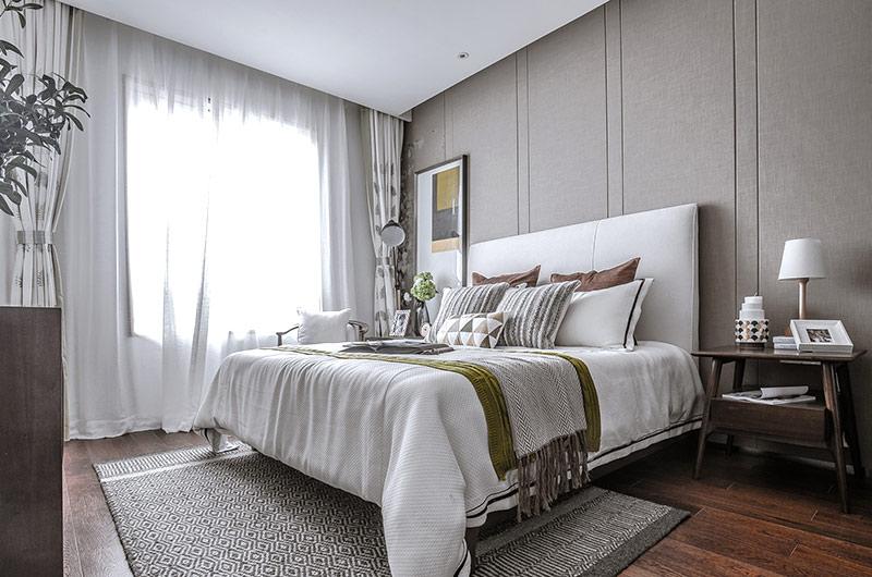 120平简约风格样板房主卧室装修