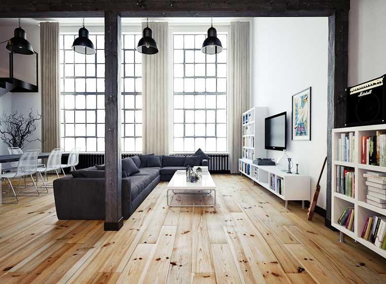 复式公寓客厅实景图