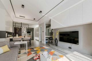 简约风格公寓装修地板效果图