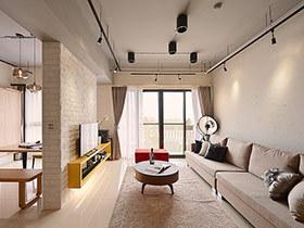 132平北欧风格三居室装修 兼具美感与机能