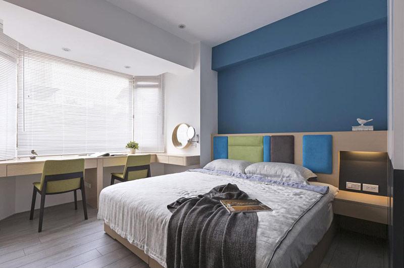 80平北欧风格二居主卧室装修