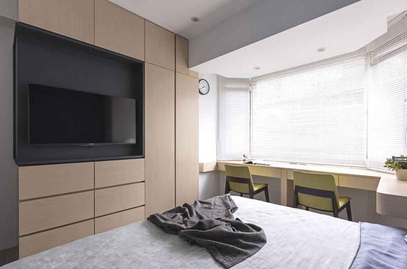 80平北欧风格二居卧室电视柜
