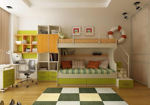 可以容纳全家人的衣服,省去了卧室中的衣柜设计,这样衣服的存放也更有