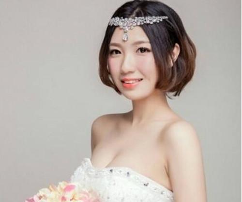 短发新娘造型图片大全 2017短发新娘发型有哪些