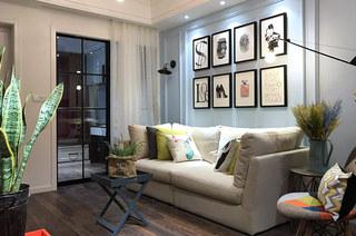 65平美式风格二居客厅效果图