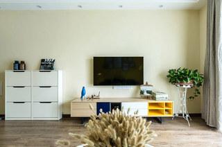 97平北欧风格二居电视背景墙装修