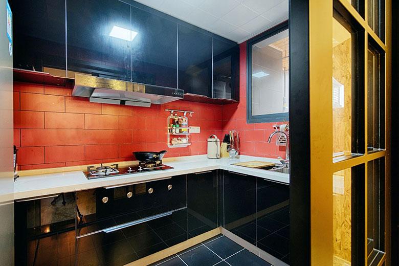 北欧混搭单身公寓厨房平面图