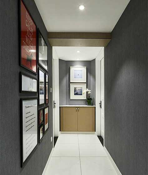 黑色系走廊设计实景图