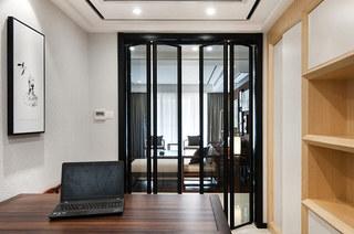 138平新中式风格书房隔断装修