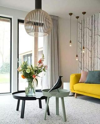 客厅窗帘装饰装修图片