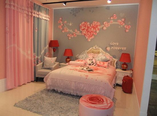 主卧婚房装修效果图欣赏 2017布置婚房卧室搭配技巧图片