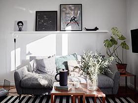 52平北欧风格小户型装修 绿色优雅复古家