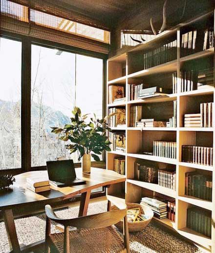 书架背景墙设计实景图