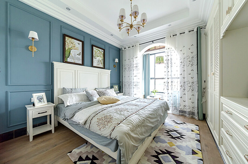 130平地中海风格三居主卧室装修