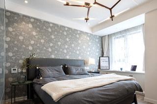 北欧风格三居室卧室壁纸图片