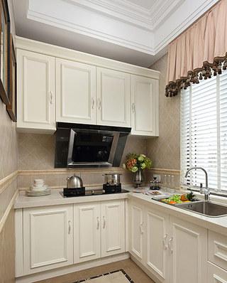 欧式古典风格样板房厨房橱柜图片