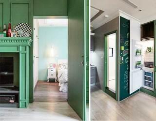 室内隐形门设计实景图