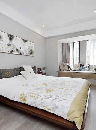 现代简约风两居室卧室布置图