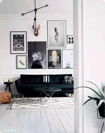 北欧风格客厅平面图