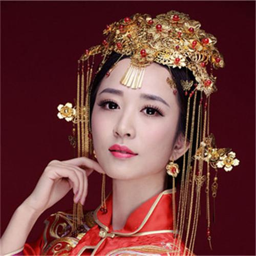 中式新娘妆图片 怎样化中式新娘妆好看图片