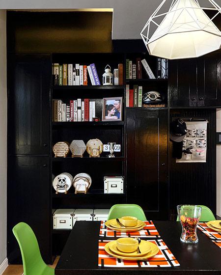 117平混搭风格三居餐边柜设计