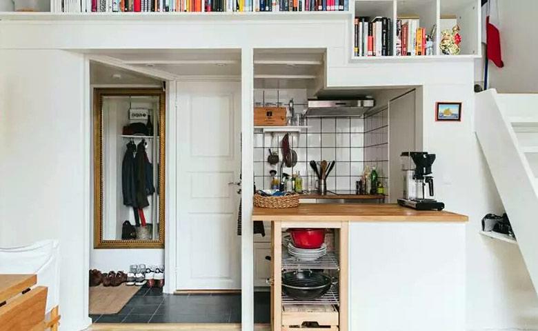20平单身公寓装修厨房效果图