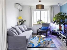 58平米小户型装修效果图 单身优质男的文艺小公寓