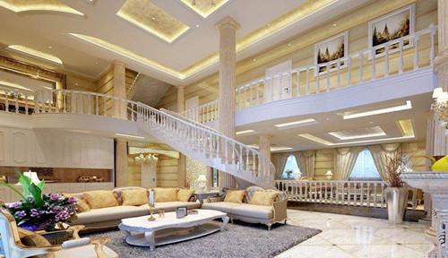 别墅设计要注重架构设计,局部设计更能体现出主人的个性,合理的平面布局着重于立面的表现,注重使用玻璃、石材及质感、涂料来营造现代休闲的居室环境。 别墅设计效果图大全一  整个别墅设计给人一种雍容华贵的感觉,古典的沙发、深受的色彩,使得别墅设计效果更加的高贵大气,每个细节的设计都彰显出主人的生活品味。 别墅设计效果图大全二  这款别墅客厅空间拥有挑高的气势,白色的茶几,为空间增添了几分硬朗气质,别墅内没有使用过多的奢华装饰,一切从简设计,使别墅设计更加的简约而不简单,出现出主人简约的生活品质。 别墅设计效果图