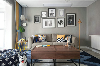 90平北欧风格二居客厅装修图