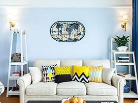 80平美式风格二房装修效果图 一辈子的窝心
