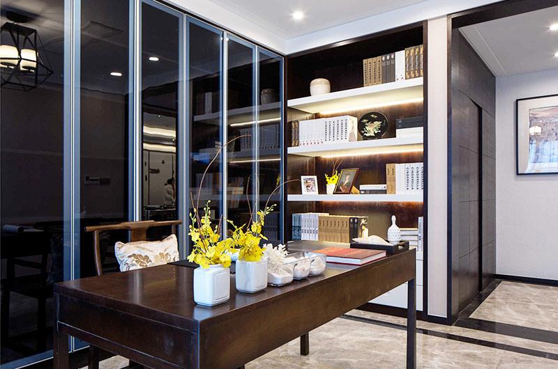 400平新中式风格别墅书房设计图