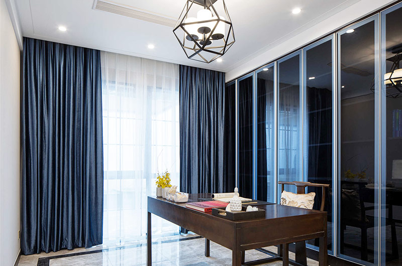400平新中式风格别墅落地窗图片