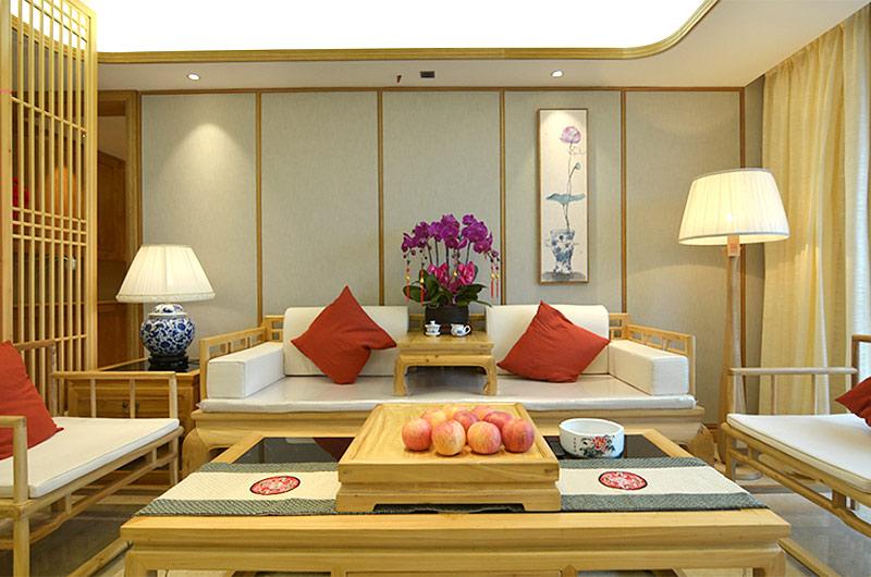 220平新中式风格四居客厅装修